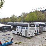 Het aantal touringcars in het stadshart slinkt gestaag