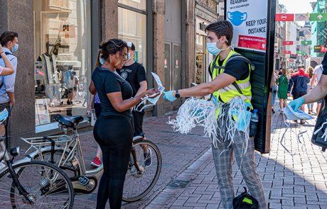 Op aandringen van Amsterdam City stopt het mondkapjesexperiment