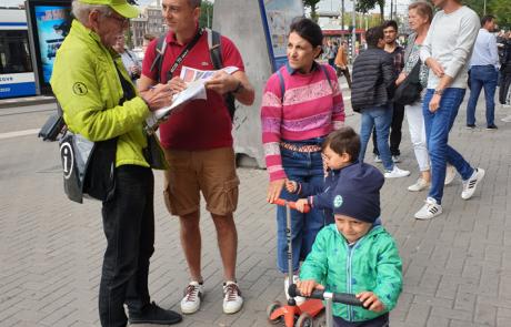 Een warm welkom voor bezoekers van Amsterdam